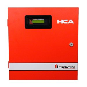 HCA-8D - HCA 8 Zone Conventional Panel with DACT, 6.5 AMP, 120VAC, Red