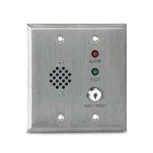 MS-RH/KA/P/R Remote Alarm Horn, Alarm LED, Pilot LED and Key Operated Test/Reset Switch