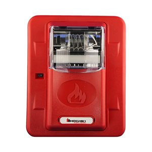 HES24-177WR - Strobe 24VDC, 177CD, Wall Mount, Red