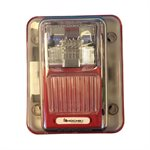 WHES24-75WR - Weatherproof 24VDC Strobe, 75CD, Wall Mount, Red