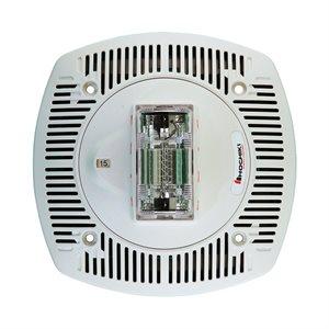 HSSPK24-CLPPW - Speaker Strobe 24VDC, Multi Candela, Plain No Lettering, Ceiling Mount, White