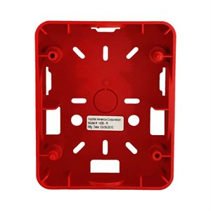 HSB-R - Weatherproof Backbox, Red (For use with HE Series)
